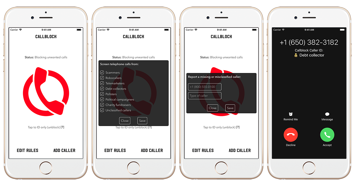 Callblock: Adblock for spam calls & texts